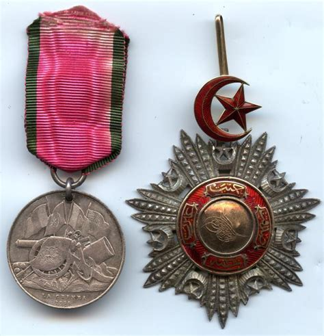 ottoman medals turkey ottoman empire set of two awards crimean war order