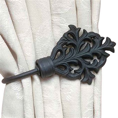 curtain rods iron wrought iron curtain rods celtic leaf