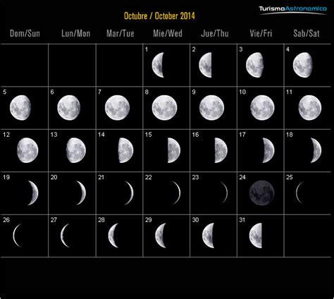 Calendario Lunar Octubre 2015 Almanaque Con Lunas Newhairstylesformen2014
