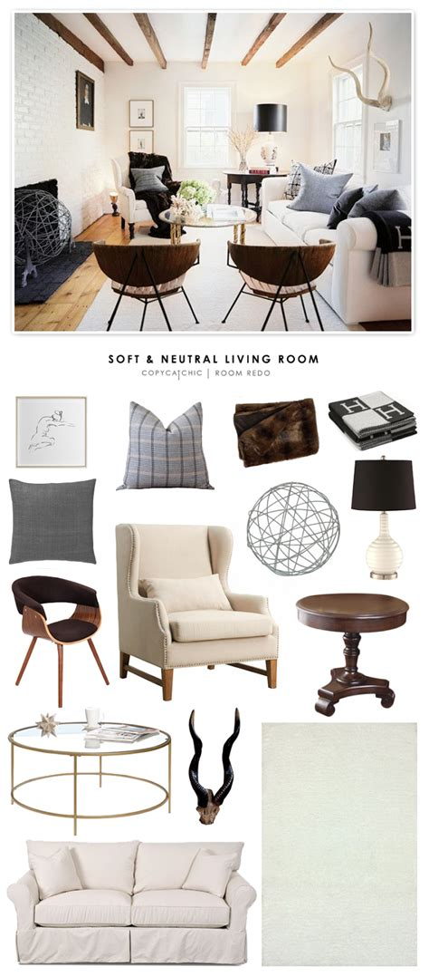 The Living Room Or Not Cat Copy Cat Chic Room Redo Soft Neutral Living Room