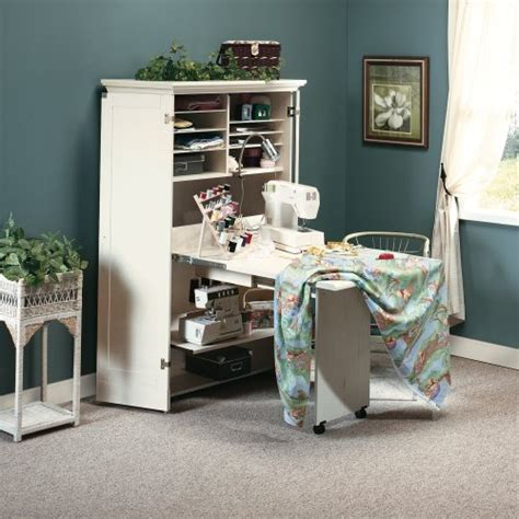 Sauder Harbor View Craft And Sewing Armoire Antique White by Craft Room Furniture And Storage Ideas Infobarrel