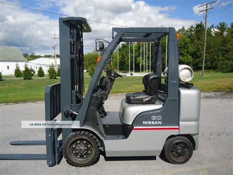 2009 nissan c60 forklift fork 6000lb yard truck yale