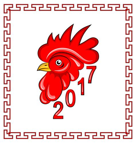 new year for rooster 2016 2017 new year of rooster with frame vector vector animal