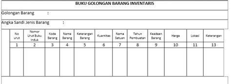 format buku barang habis pakai inventarisasi barang habis pakai dan tidak habis pakai