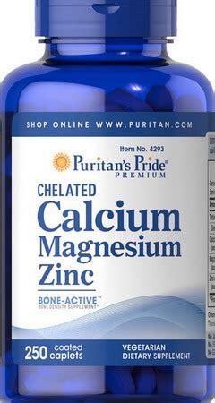 Suplemen Zinc Puritan Calcium Magnesium Zinc Suplemen Kalsium
