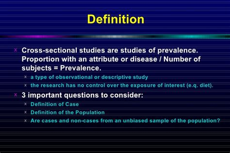definition of a cross sectional study 3 cross sectional study
