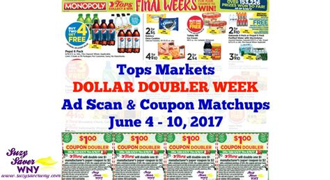tops grocery coupons printable tops markets ad scan deals june 4 10 2017 dollar