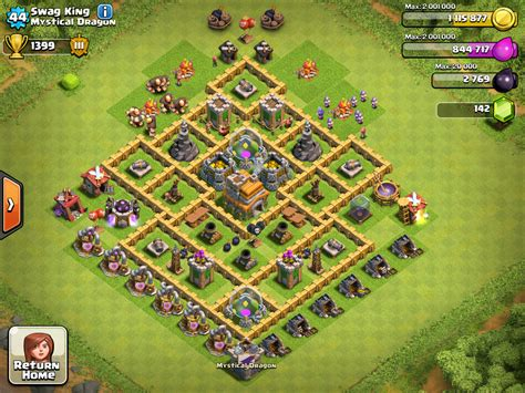 layout coc paling kuat th 7 strategi bertahan clan wars clash of clans game car