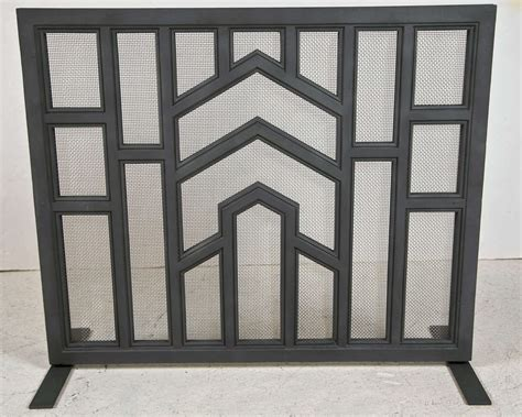 Cast Iron Fireplace Screen by 1030s Architectural Cast Iron Fireplace Screen At 1stdibs