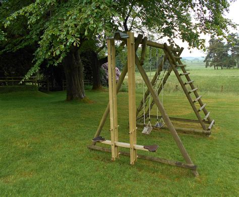 you swing push me pull you wooden play equipment from caledonia play