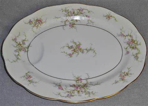 Rosalinde Of by Theodore Haviland Rosalinde Pattern Oval Indented Platter
