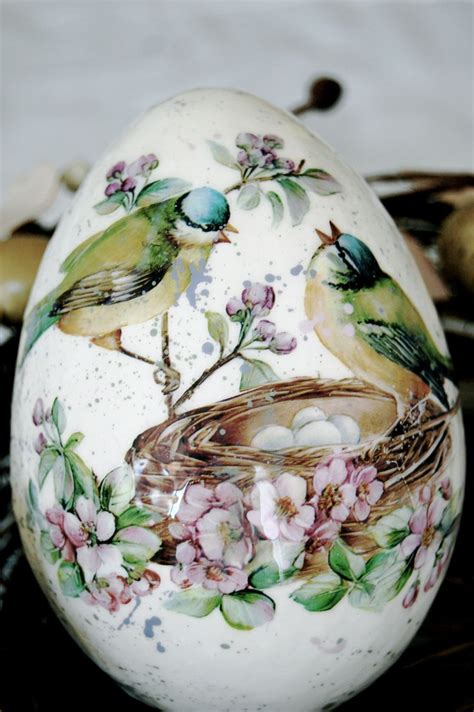 Decoupage Eggs - decoupage easter egg the announcement of