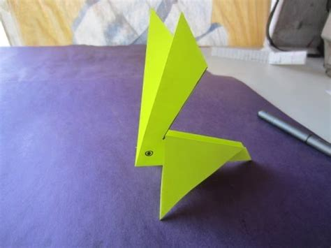 Paper Craft Work For - easy paper craft work paper rabbit