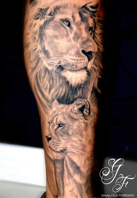 realistic lion leg tattoo design tattoos and designs page 34