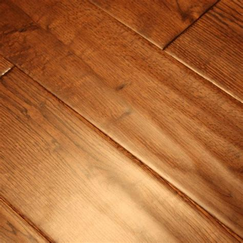 Oak Gunstock 3/4 x 5 Hand Scraped Hardwood Flooring   Our