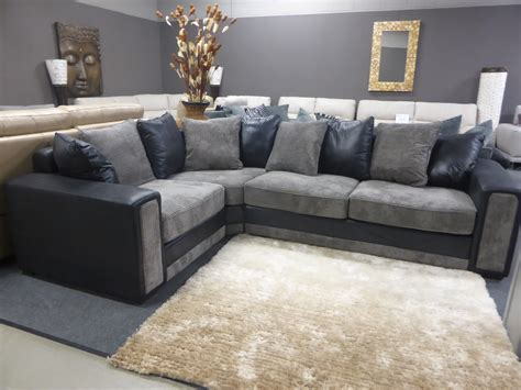 Modern Fabric Corner Sofas Benevento Modern Fabric Corner Sofa Grey Furnimax Brands Outlet