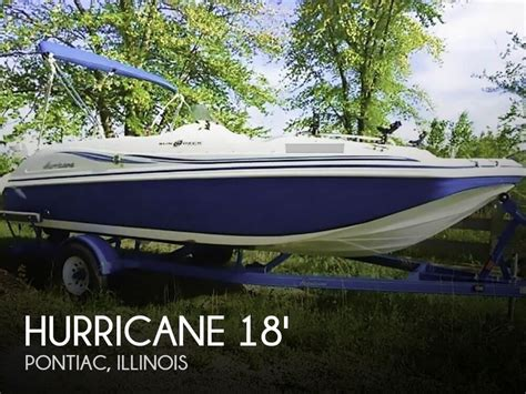 deck boat for sale illinois hurricane sundeck ss 188 for sale in pontiac il for