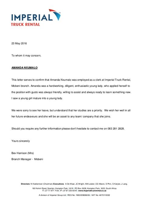 Recommendation Letter Imperial College Reference Letter Imperial