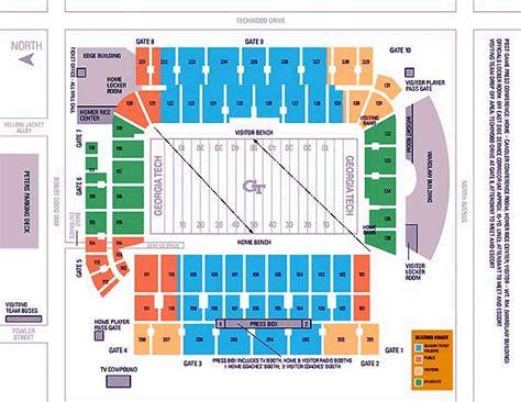 tech football seating map tech yellow jackets 2003 football schedule