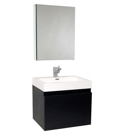 23 5 inch black modern bathroom vanity with medicine