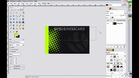 card template gimp business card design gimp 2 0
