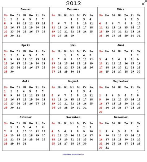 Calendar Of 2012 Calendar 2012 Printable Calendar With List