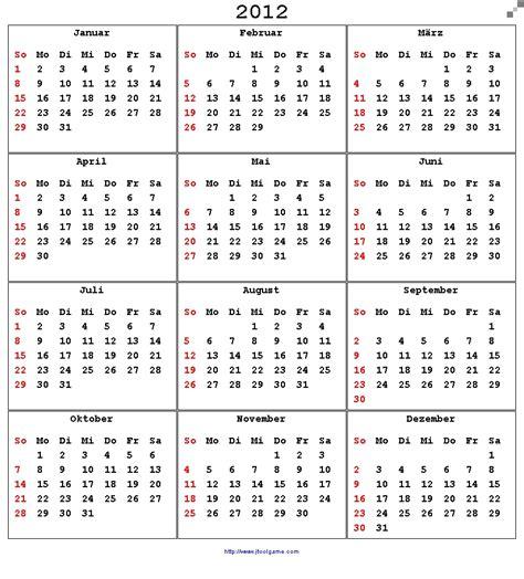 Calendar 2012 Printable Calendar 2012 Printable Calendar With List