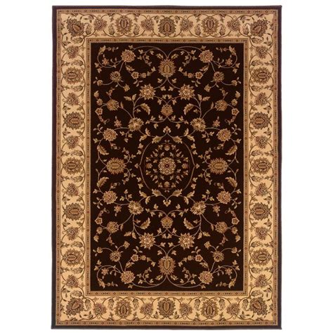 Natco Area Rugs Natco Kurdamir Rockland Brown 5 Ft 3 In X 7 Ft 7 In