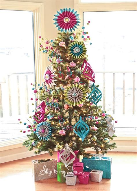 christmas tree decorating ideas 2017 colorful christmas