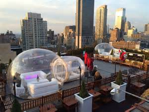 rooftop igloos at 230 fifth batterypark tv we inform
