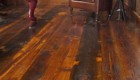 Rustic Wide Plank Flooring 3 Wide Plank Floor Styles For Industrial Home D 233 Cor