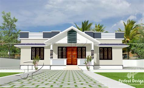 one floor home plans 1182 sq ft modern single floor home kerala home design