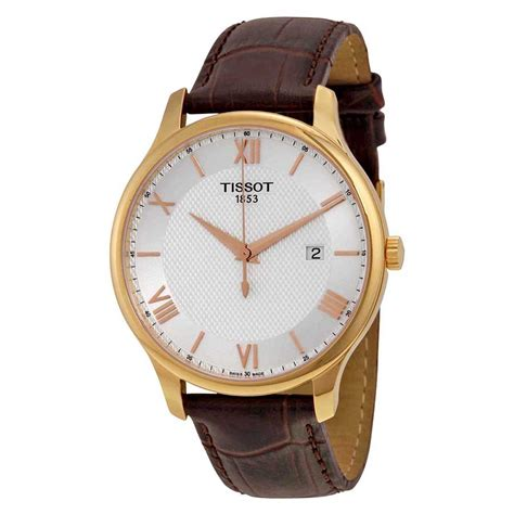 Tissot Tradition Gent T0636101603800 tissot tradition gents quartz silver brown leather s t0636103603800 tradition