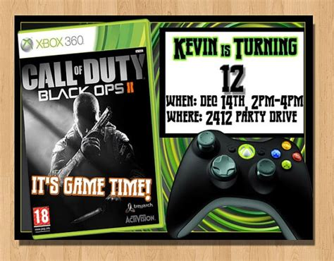free printable xbox birthday invitations 17 best images about gamer birthday party on pinterest