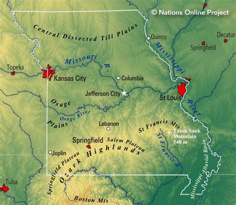 america map missouri reference maps of missouri usa nations project