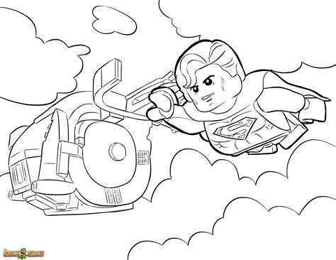 superman coloring page printable sheet the lego movie