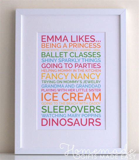 Handmade Posters - easy baby gifts to make ideas tutorials and