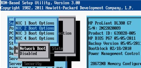 fan boat hp network boot from a non default nic on a hp proliant g7