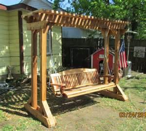 outdoor swing frames made cedar porch swings