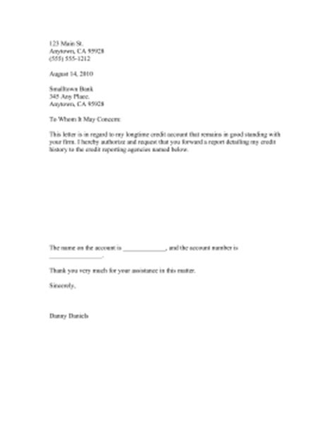 authorization letter for bank to release information credit information release authorization template