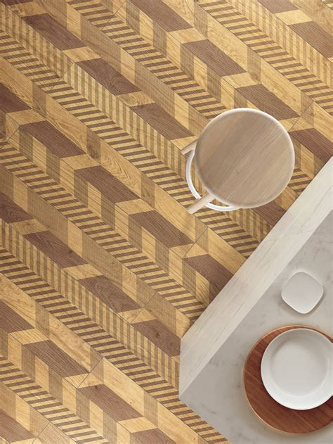 Laminated porcelain tiles wood look Slimtech Type 32