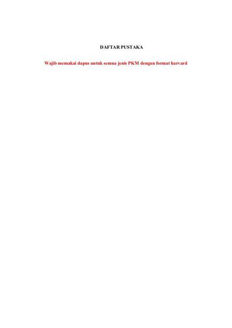 format biodata anggota pkm contoh format pkm 2013
