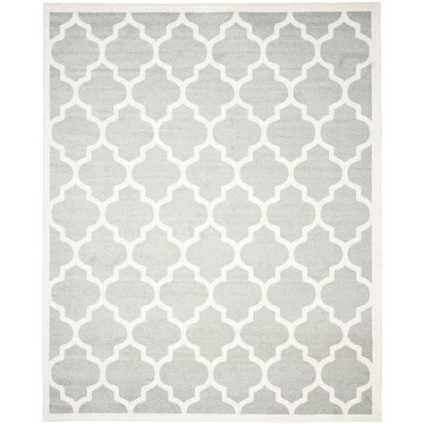 8 x 10 grey area rug safavieh amherst light gray beige 8 ft x 10 ft indoor outdoor area rug amt420b 8 the home depot