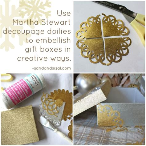 Martha Stewart Decoupage - decorative decoupage gift boxes sand and sisal