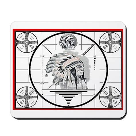test pattern non indian tv test pattern indian chief mousepad by tv testpattern