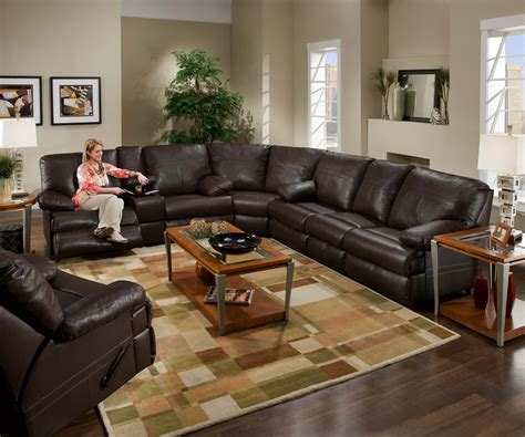 simmons miracle brown leather sectional furniture and