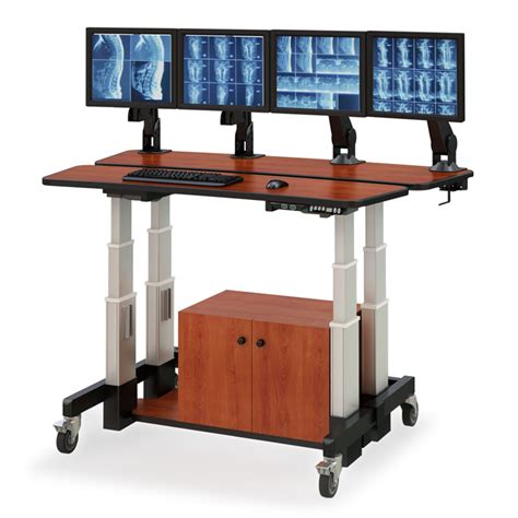 split level height adjustable desk afcindustries