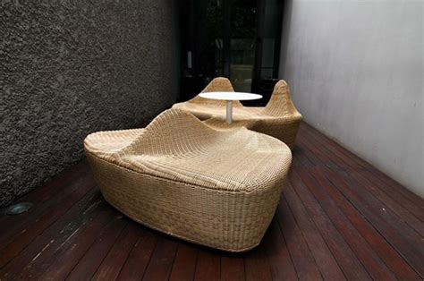 curved bench seating indoor indoor and outdoor rattan benches urban gardens