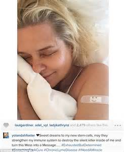 did yolanda foster have lyme disease yolanda foster in husband david s arms as lyme disease