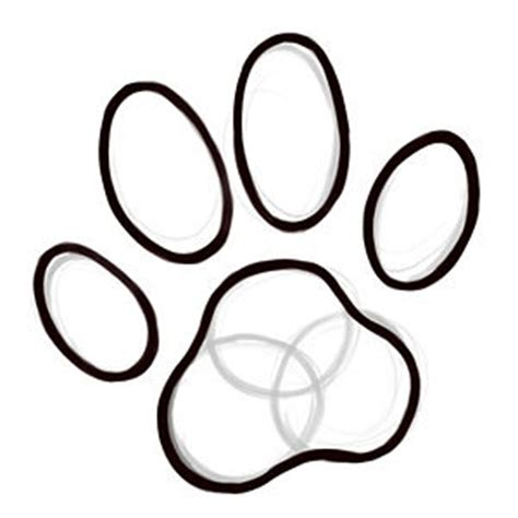 how to draw a puppy paw how to draw paw print